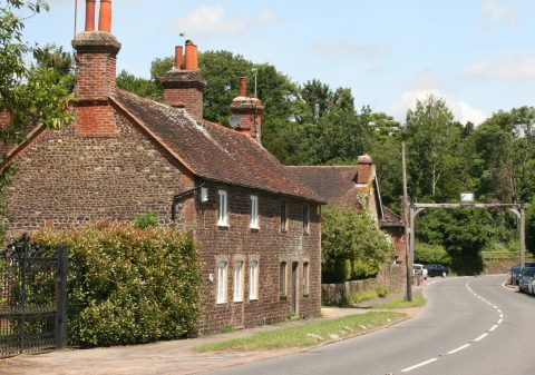 Image of ironstone cottages near the Rother