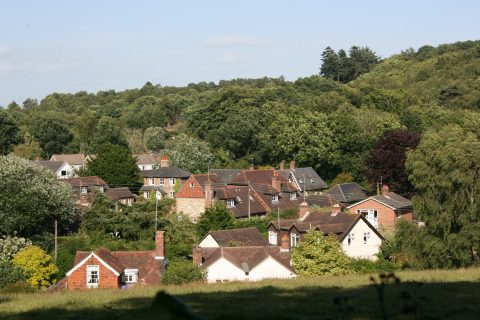 A view over the village from Hesworth Common