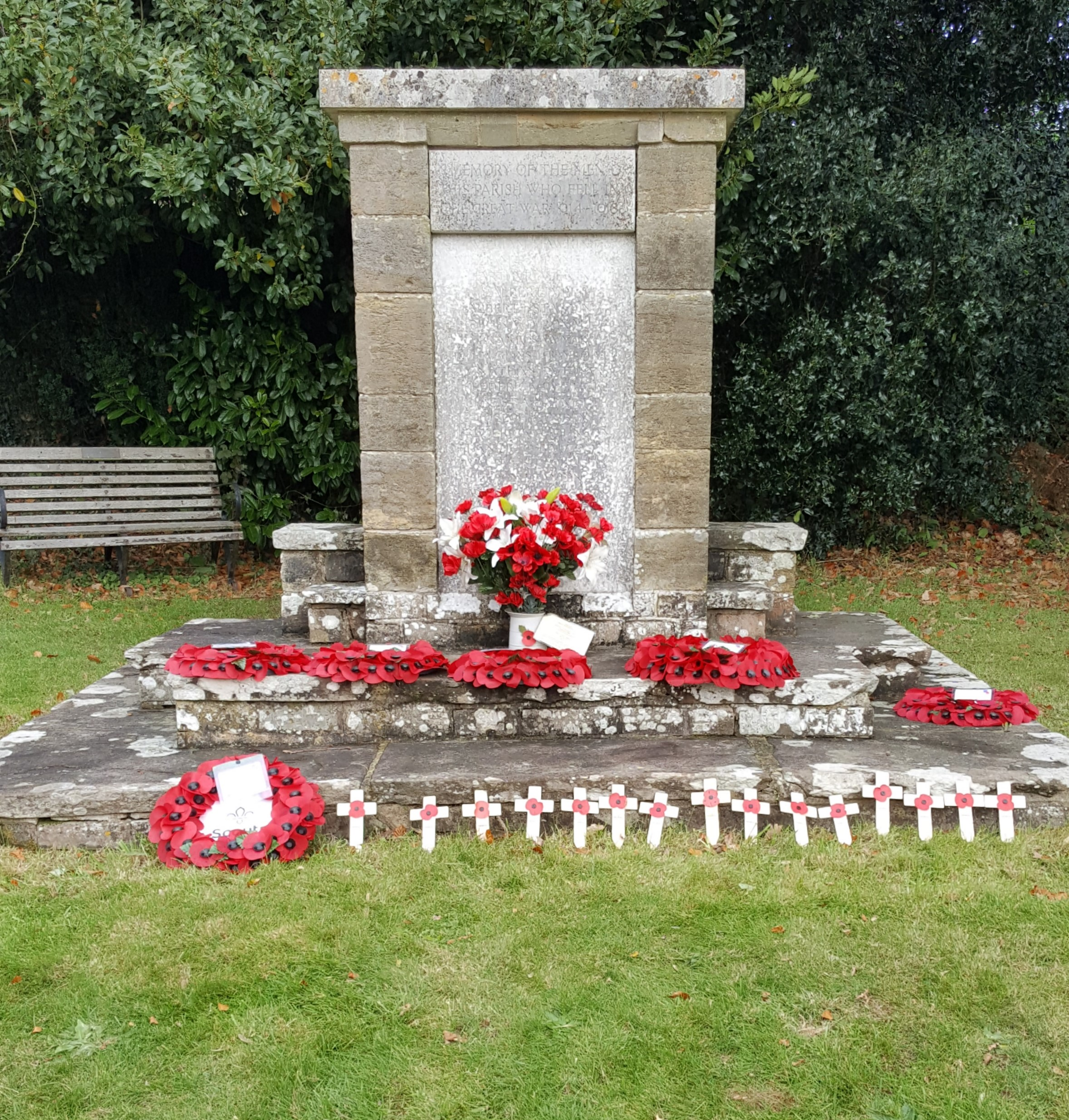 Fittleworth remembers those who have died and those who were affected in any way by war. A service was held at St Mary's Church Fittleworth to mark this and the Centenary of the Armistice Day 11.11.1918