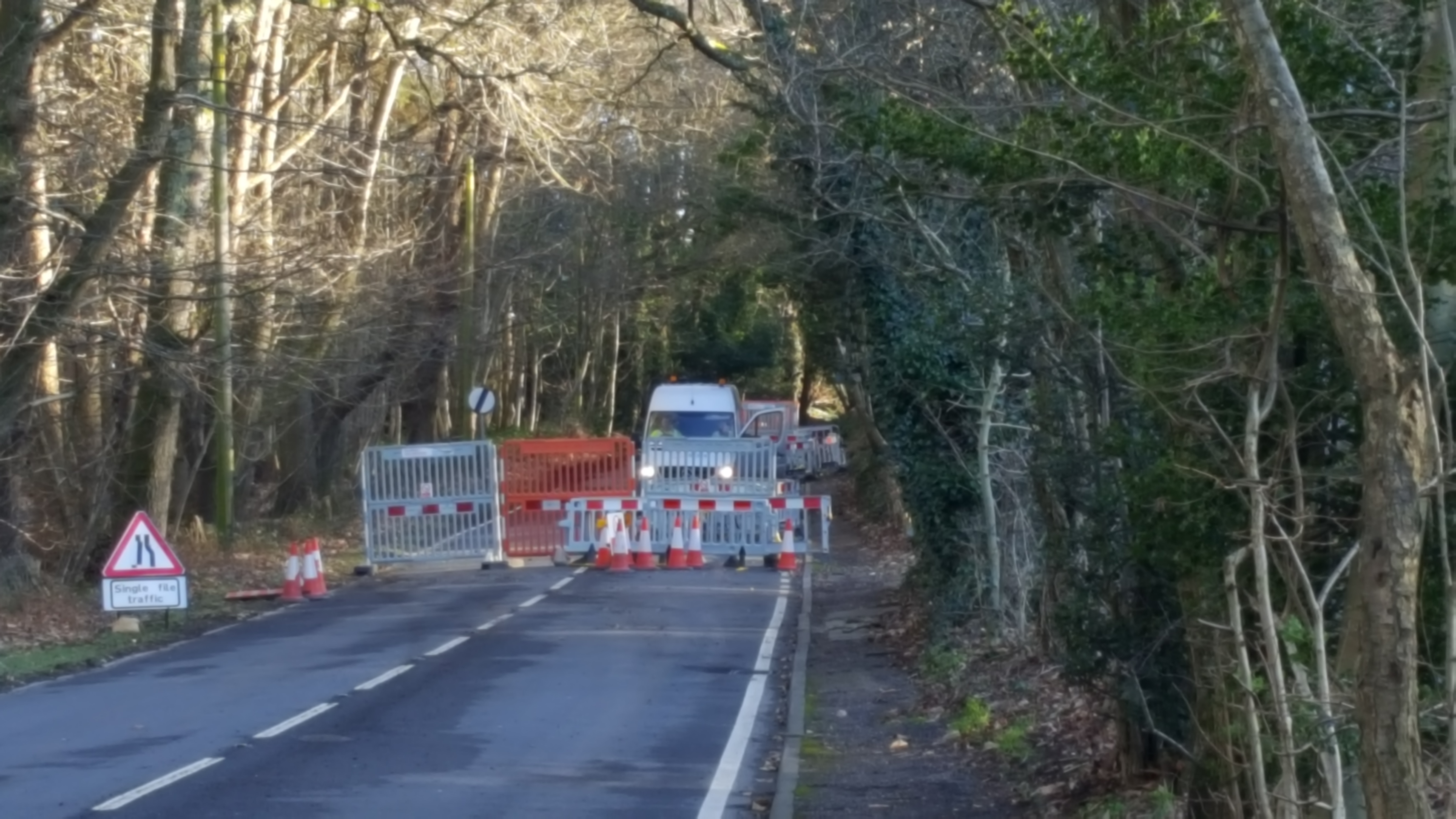 The A283 is likely to be closed possibly until Thursday, near Wyncombe Hill (the hill continuation from the Fleet towards Pulborough). This is due to work to repair a gas leak on the main supply. The sgn no. for information is 0800 912 1700.  However any updates from them will be posted here when  they are received.