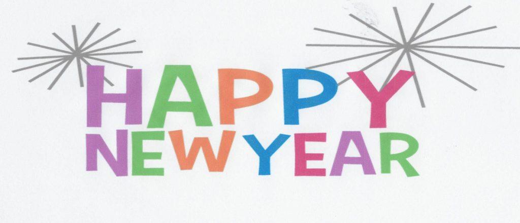 A Happy New Year notice