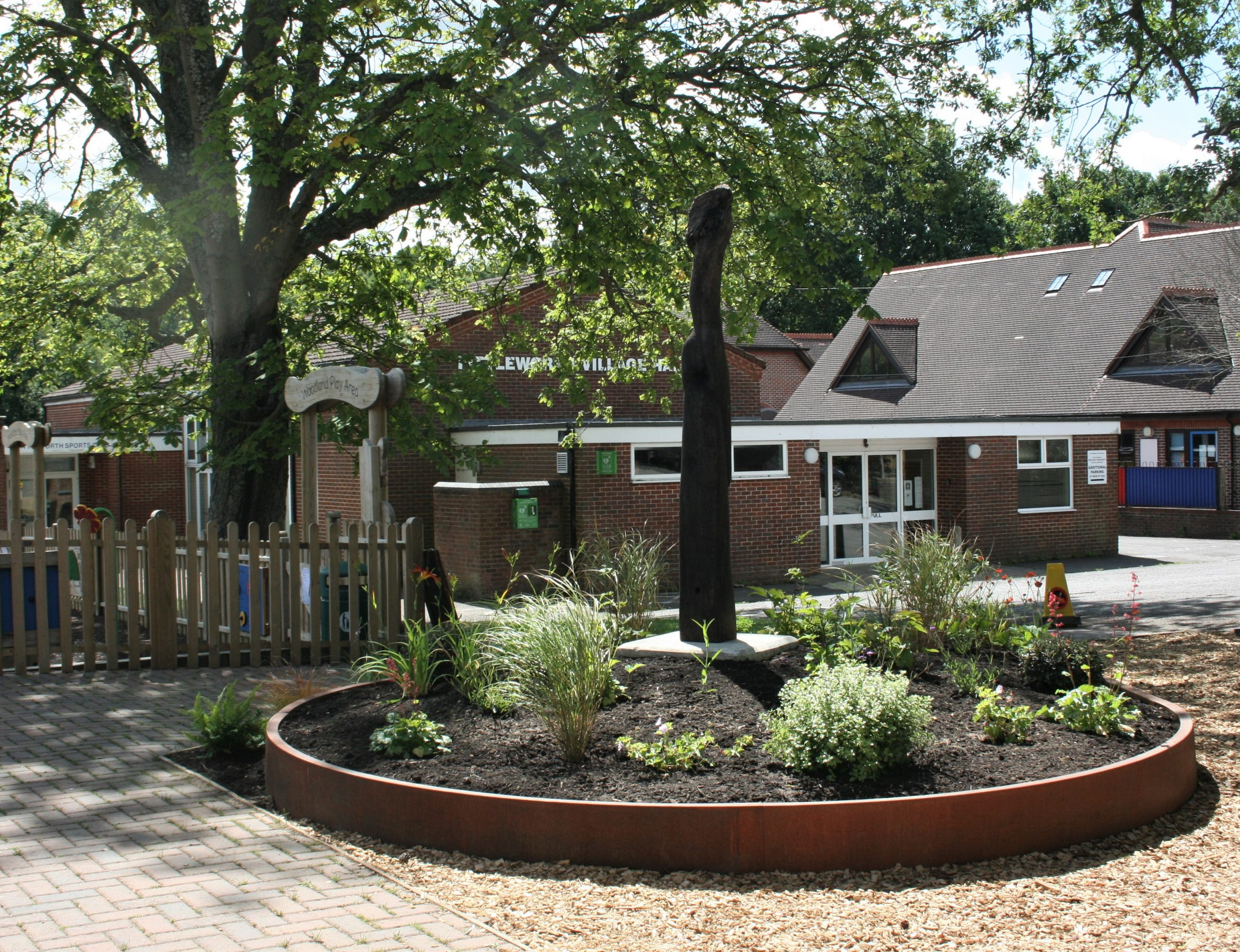 A view of Fittleworth Stores new garden