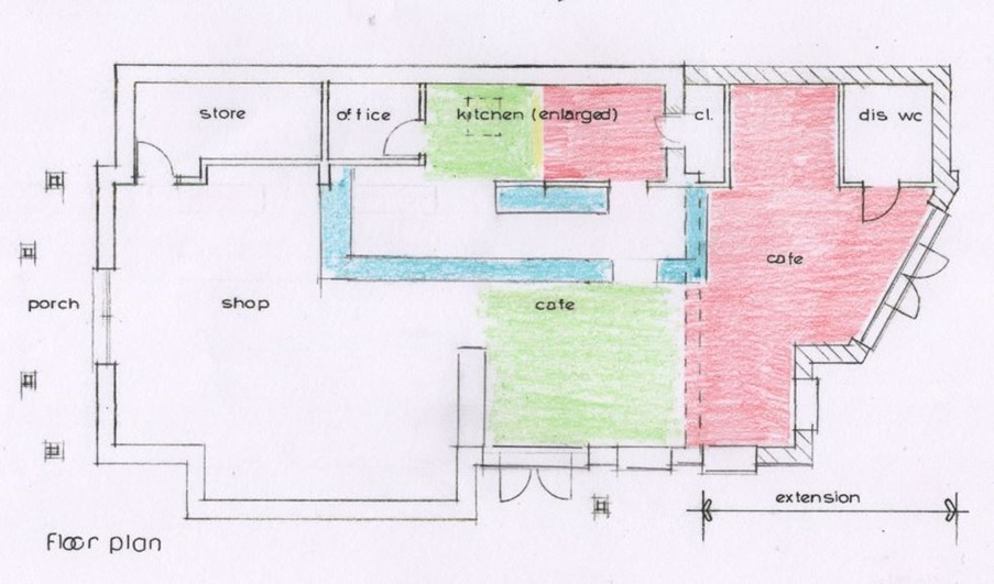 A plan of the application Fittleworth Stores extension